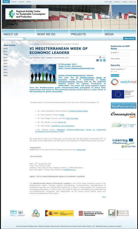 VI Mediterranean Week of Economic Leaders